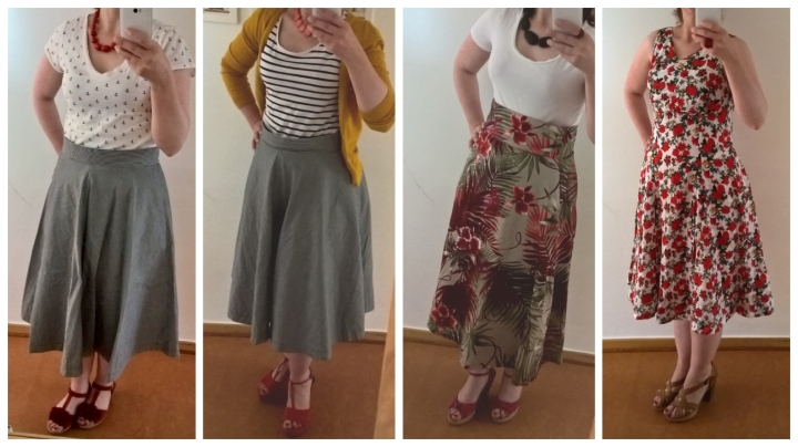 collage urlaubsoutfits