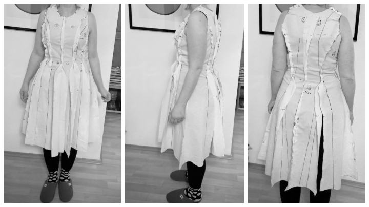 collage probekleid